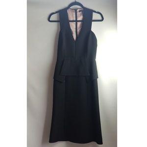 BCBGMaxAzria Dresses - BCBG MAXAZRIA BLACK ALEJANDRA  PEPLUM GOWN